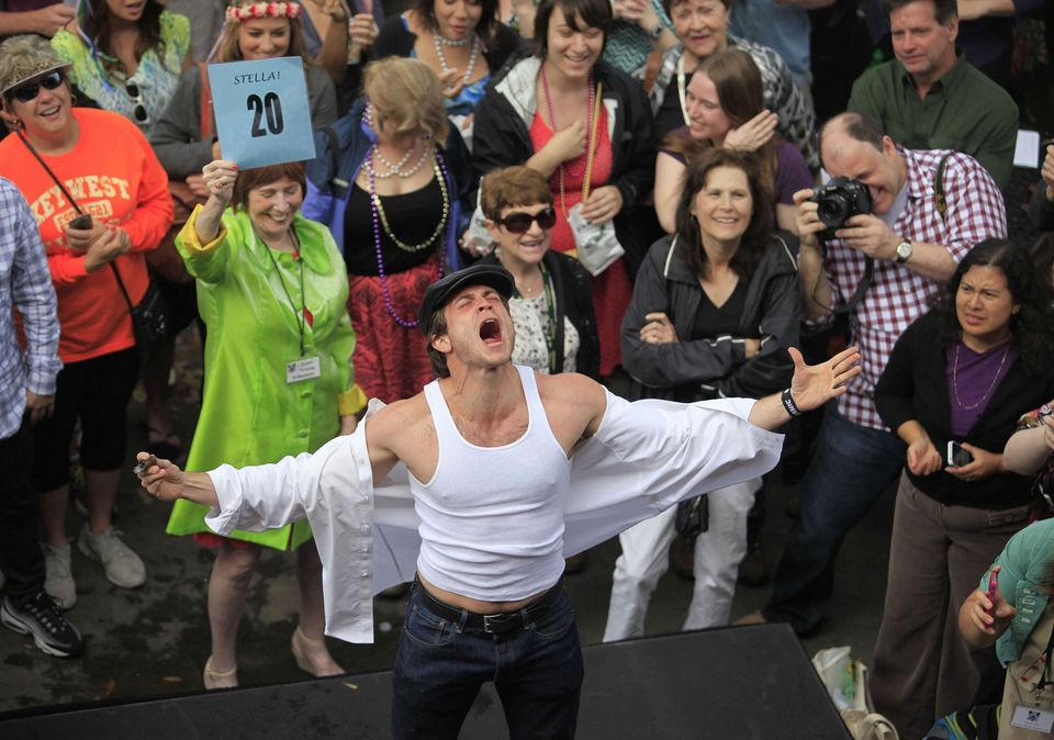 Shouting Contest contestant 20 at the Tennessee Williams/New Orleans Literary Festival 2015