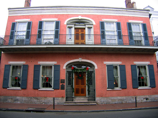 The Herman Grima House in the Fench Quarter of New Orleans