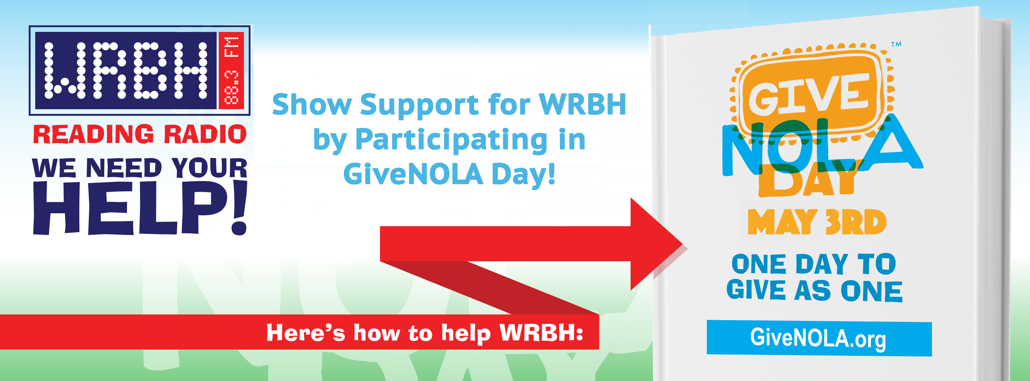 Support WRBH on GiveNOLA Day!