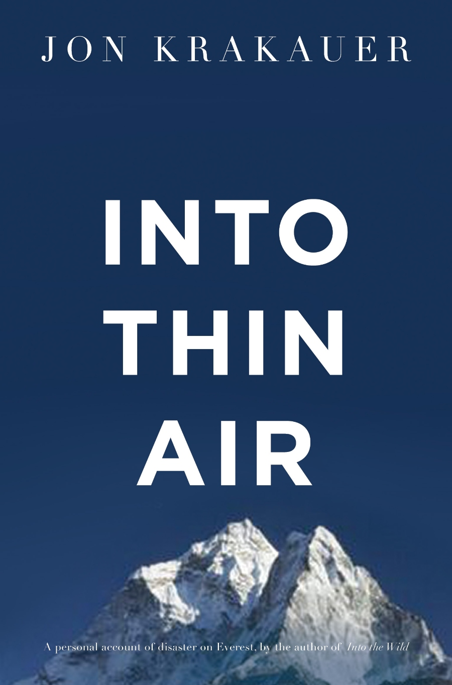 Into Thin Air by John Krakauer book cover photo