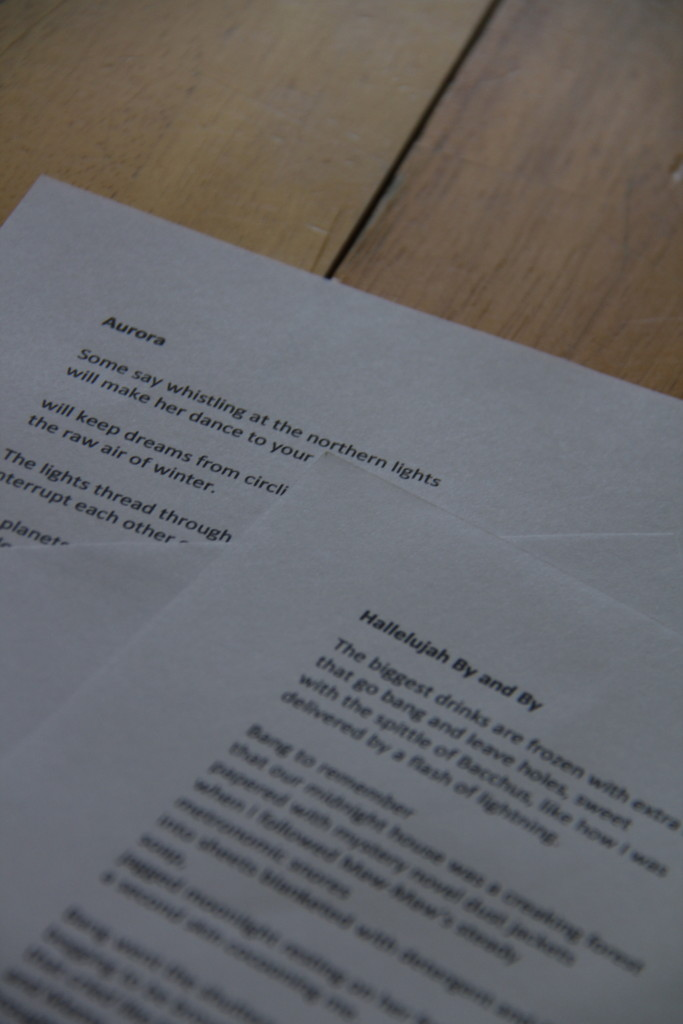 Printed versions of the poems