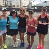 Tennis 3.0 Champs (LEFT SIDE – Consolation Andrea Finkelstein and Molly Hardin and RIGHT SIDE – Champs Amanda Maksi and Kellie Proctor)