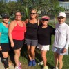 Tennis 3.5 Champs (LEFT SIDE – Consolation Gina Ellis and Stacey Arabie and RIGHT SIDE – Champs Carolyn Duronslet and Sally Treuting)