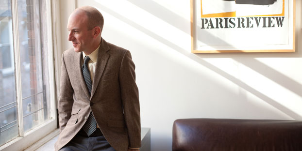 Lorin Stein, editor of The Paris Review looks out a window