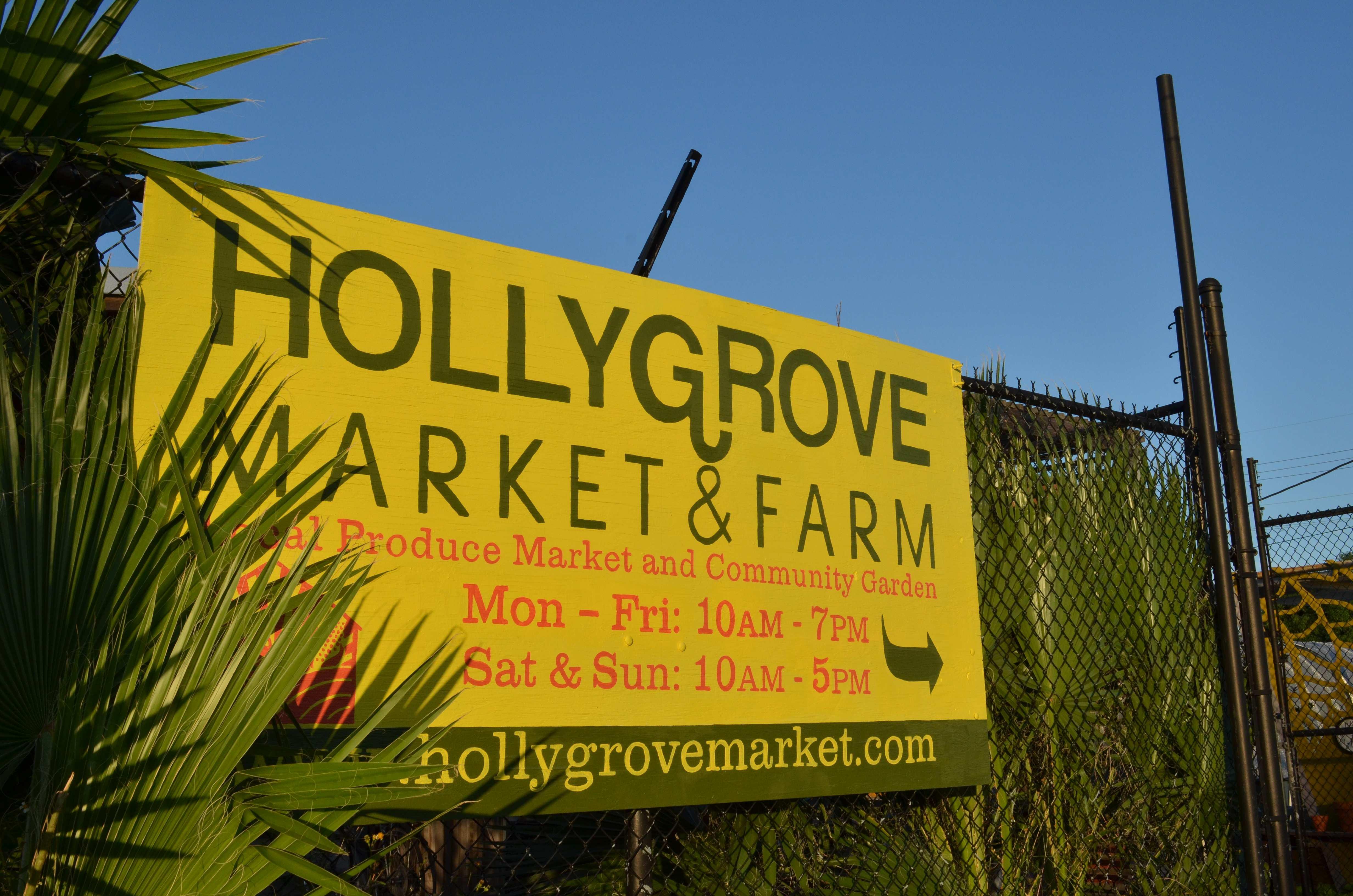 Hollygrove Market sign photo