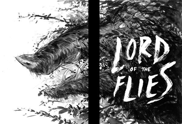 Lord Of The Flies Cover illustration