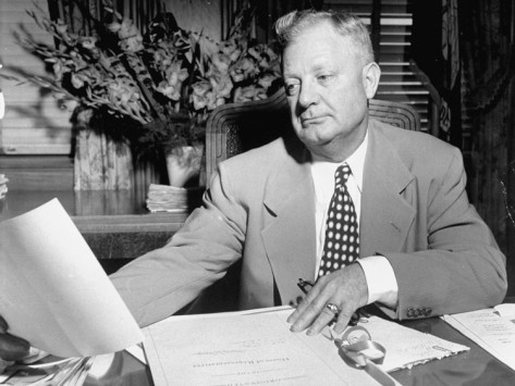 Governor Earl Long at Desk photo