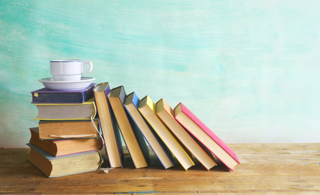 Books With a Teacup on them photo