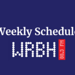 Weekly Schedule for 09/20 – 09/26